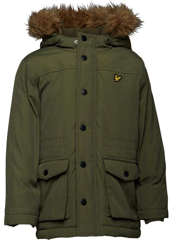 Junior Boys Micro Fleece Lined Jacket Olive Tree