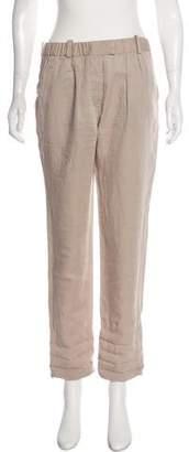Etoile Isabel Marant High-Rise Linen-Blend Joggers
