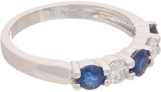 Effy Fine Jewelry 14K 1.14 Ct. Tw. Diamond & Sapphire Ring
