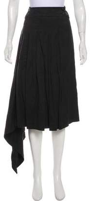 Pauw Pleated Midi Skirt