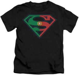 Superman DC Comics Portugal Flag Shield Little Boys T-Shirt Tee