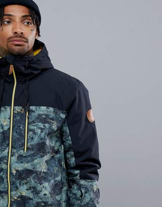 Quiksilver Mission Block Ski Jacket in Anicamo
