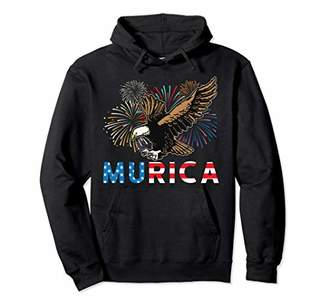 4th of July Eagle Freedom Murica Merica USA Independence Day Pullover Hoodie