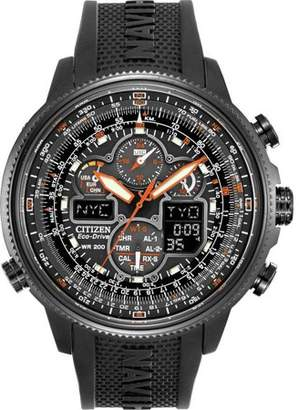 Citizen Eco-Drive Navihawk Atomic Alarm Chronograph Men's Watch, JY8035-04E