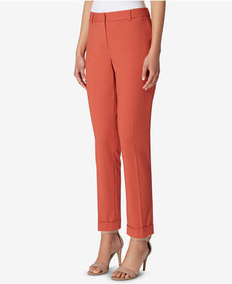 Tahari ASL Cropped Cuffed Pants, Regular & Petite