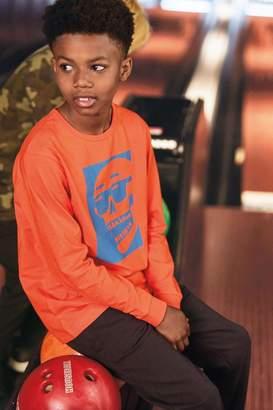 Next Boys Orange Long Sleeve Skull T-Shirt (3-16yrs) - Orange