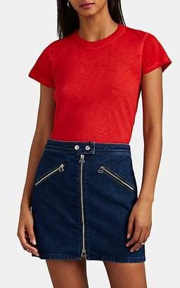 Rag & Bone Women's The Tee Pima Cotton T-Shirt - Red