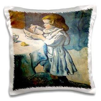 3dRose Picture Of Picassos Painting The Greedy Child, Pillow Case, 16 by 16-inch