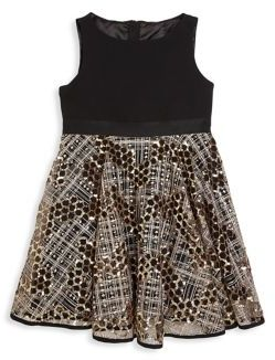 MILLY Minis Toddler's, Little Girl's & Girl's Mixed-Media Dress $215 thestylecure.com