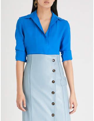 Victoria Beckham Victoria Triple seam-detail silk-crepe shirt