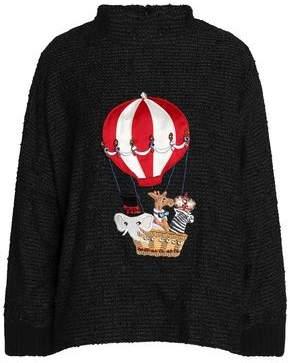 Dolce & Gabbana Appliquéd Bouclé-Knit Sweater