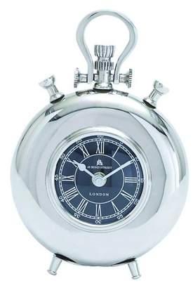 UMA Nickel Plated Table Clock