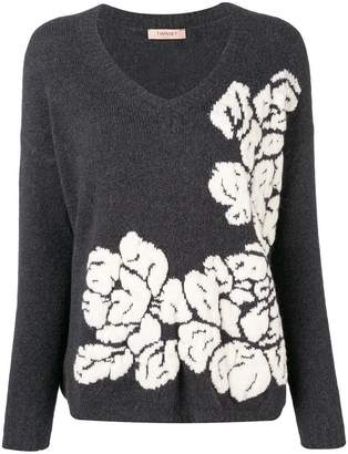 Twin-Set floral knitted sweater
