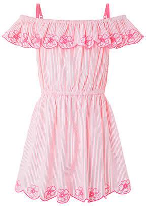 Accessorize Neon Embroidered Bardot Dress