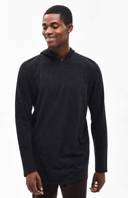 PacSun Airen Nep Hooded Long Sleeve Scallop T-Shirt