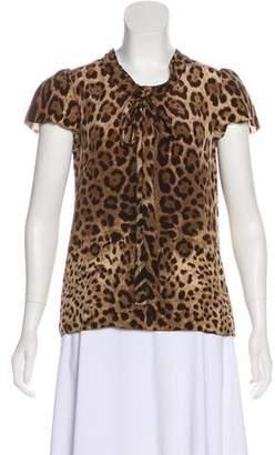 Dolce & Gabbana Short Sleeve Silk Top