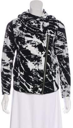 Helmut Lang Printed Hooded Casual Jacket