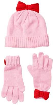Kate Spade bow hat & gloves set (Big Girls)
