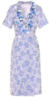 Miu Miu Embellished jacquard dress