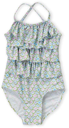 Sol Swim (Toddler Girls) Printed Ruffled One-Piece Swimsuit
