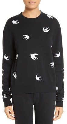 Women's Mcq Alexander Mcqueen Swallow Sweater $450 thestylecure.com
