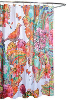 Moda Art Journal Bird and Floral Shower Curtain
