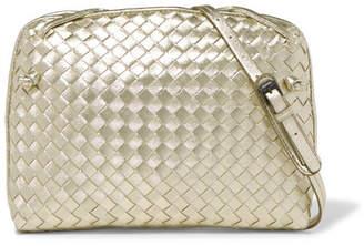Bottega Veneta Nodini Small Metallic Intrecciato Leather Shoulder Bag - Gold