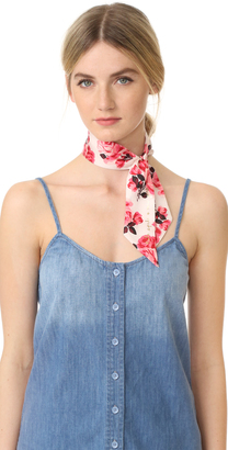 Kate Spade New York Rosa Silk Skinny Scarf $48 thestylecure.com