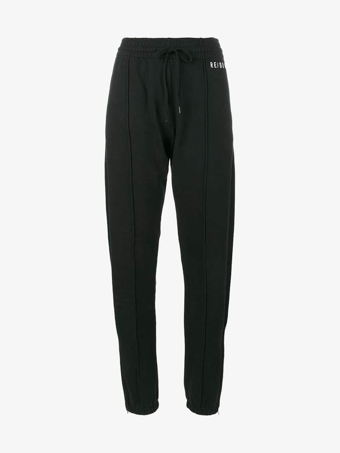 logo embroidered track pants