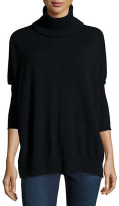Neiman Marcus Cashmere Collection Cashmere Dolman-Sleeve Turtleneck Sweater $325 thestylecure.com