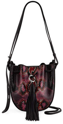 Rebecca Minkoff Lulu Snake-Print Leather Tassel Crossbody Bag