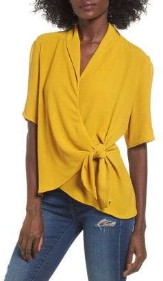 Women's Leith Tie Front Wrap Top $59 thestylecure.com