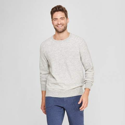 Goodfellow & Co Men's Standard Fit Crew Neck Sweater - Goodfellow & Co Light Grey