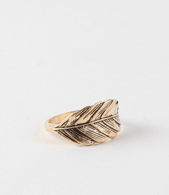 Kirra Gold Leaf Ring