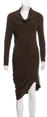 Alice + Olivia Midi Cowl Neck Dress