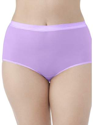 Fruit of the Loom Fit for Me by Women's Plus Everlight Brief Panties - 4 Pack