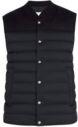 Moncler - Down Quilted Nylon And Wool Gilet - Mens - Navy