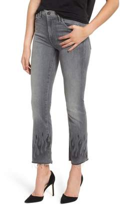 Mother The Insider Frayed Ankle Jeans