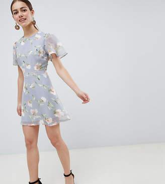 Missguided Petite Chiffon Floral Mini Dress