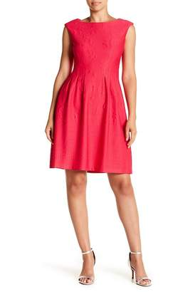 Taylor Fit & Flare Boatneck Dress