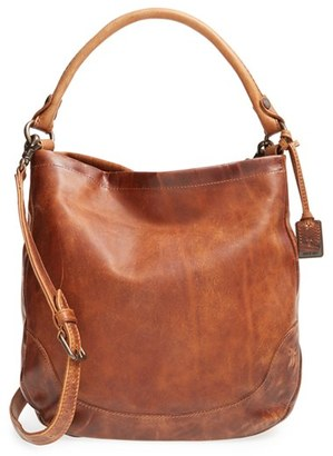 Frye Melissa Washed Leather Hobo - Brown $388 thestylecure.com