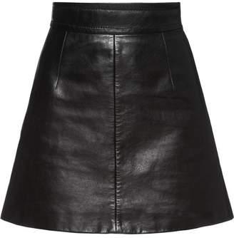Miu Miu (ミュウミュウ) - Miu Miu A-line leather skirt