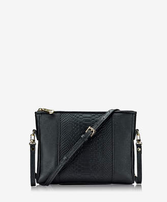 GiGi New York Hailey Crossbody Black and Embossed Python