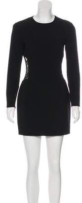 Michael Kors Lace-Paneled Wool Dress