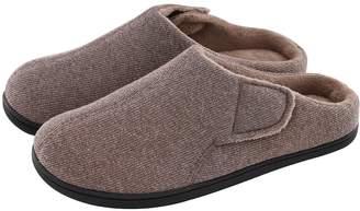 e41d208aba6 ULTRAIDEAS Men s Comfort Velvet Memory Foam Slippers Short Plush Clog Indoor    Outdoor Diabetic Shoes w
