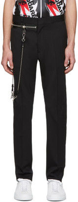 DSQUARED2 Black Wool Chain Hockey Trousers