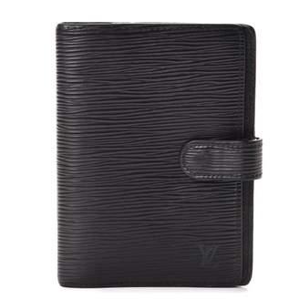 Louis Vuitton Agenda Cover Small Ring Epi Noir Black