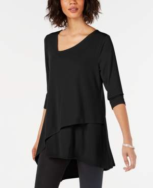 Alfani Solid Envelope-Hem Top, Created for Macy's