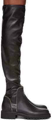 Giuseppe Zanotti Black Combat 25 Over-The-Knee Boots