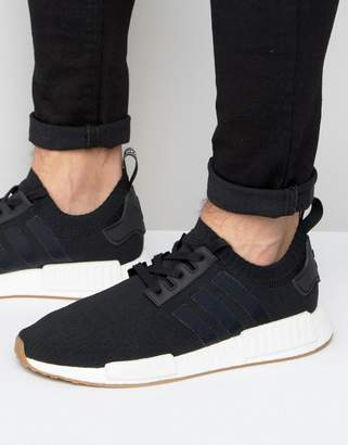 adidas Originals NMD_R1 PK Sneakers In Black BY1887 $170 thestylecure.com